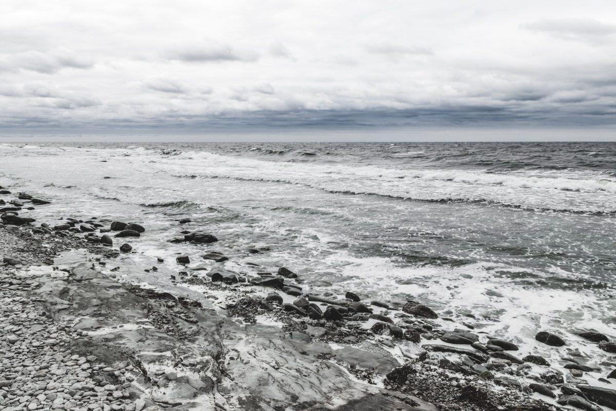 Rocky coast of a Nordic sea